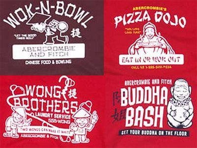 Abercrombie fitch asian style t-shirts